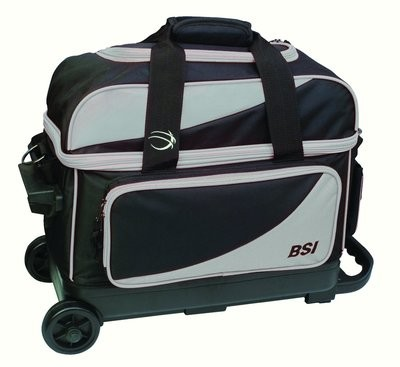 BSI Black/Grey 2 Ball Roller Bowling Bag