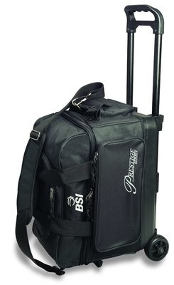BSI Prestige Series Black 2 Ball Roller Bowling Bag