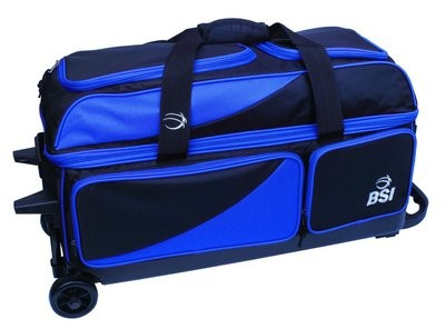 BSI Black/Blue 3 Ball Roller Bowling Bag