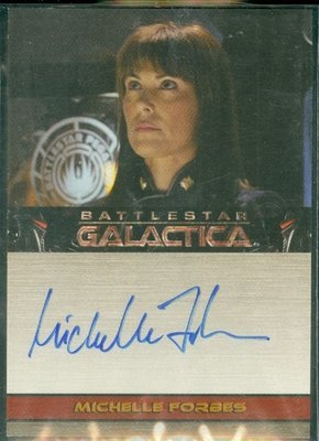 Michelle Forbes Autograph Card