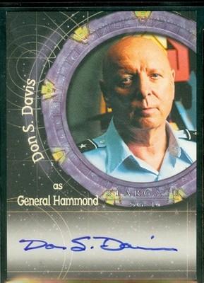 ( A 44 ) Don Davis as General Hammond Autograph Card
