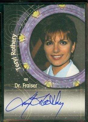 ( A 45 ) Teryl Rothery as Dr Fraiser Autograph Card