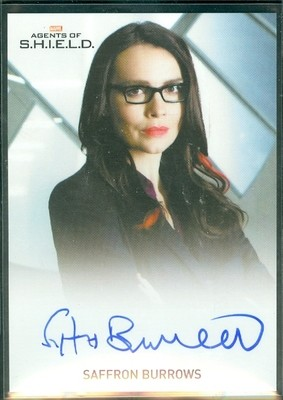 Saffron Burrows as Agent Victoria Hand Autograph Card Full Bleed