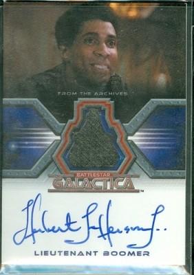 Herbert Jefferson, Jr. as Lieutenant Boomer Autographed Costume Card [ BGCW ]