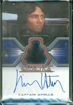 Richard Hatch as Captain Apollo Autographed Costume Card [ BGCW ]