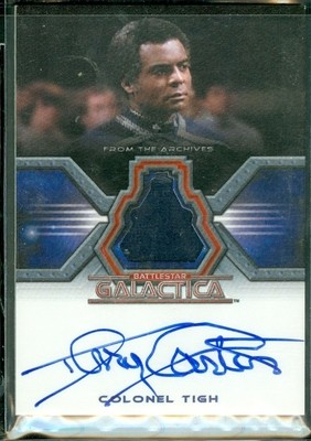 Terry Carter as Colonel Tigh Autographed Costume Card [ BGCW ]