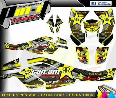 CAN AM DS450 STICKER KIT