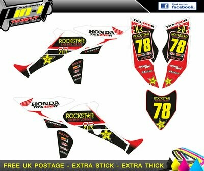HONDA TRX450R STICKER KIT