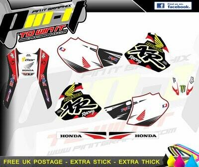 Honda XR 250 400 96-04   STICKER KIT