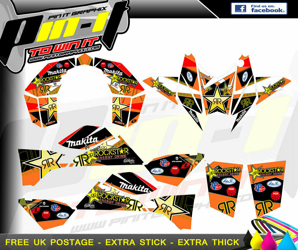 ktm 450 505 525 sticker kit
