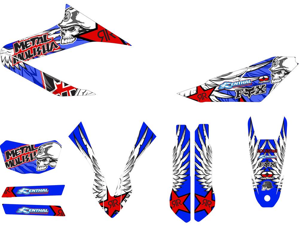 yamaha wr125 r sticker kit