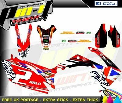 honda crf450 09-12 crf250 10-13    sticker kit