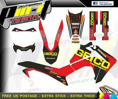 honada crf125 13-15   sticker kit