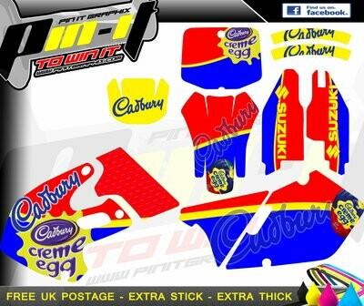 suzuki rm 125 / 250 1999-2000 sticker kit
