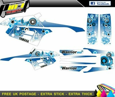 yamaha warrior sticker kit