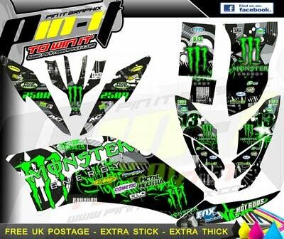 yamaha raptor 250 sticker kit