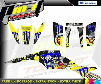 polaris scrambler 250 / 500 sticker kit