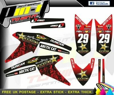 artic cat dvx400 sticker kit