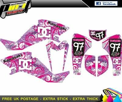 kawasaki kfx sticker kit