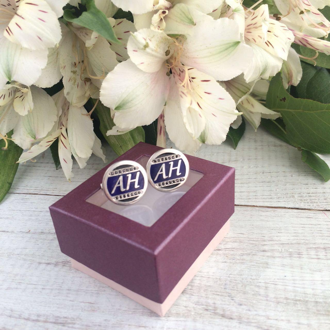 Запонки на заказ: серебро 925 пробы, драгоценная эмаль