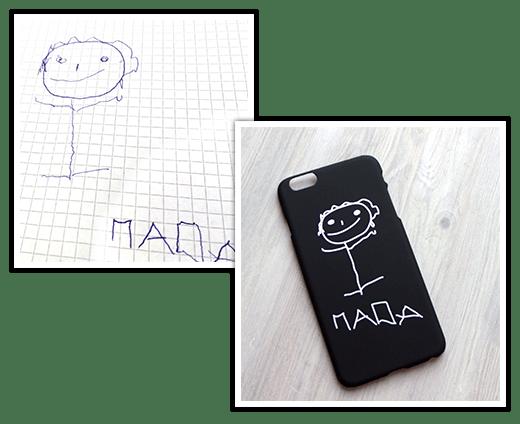Чехол на телефон (цветной рисунок или фотография)