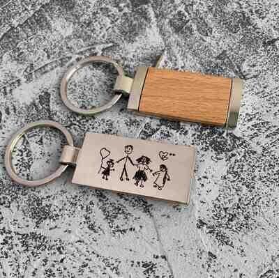 Брелок для ключей Wood 09390