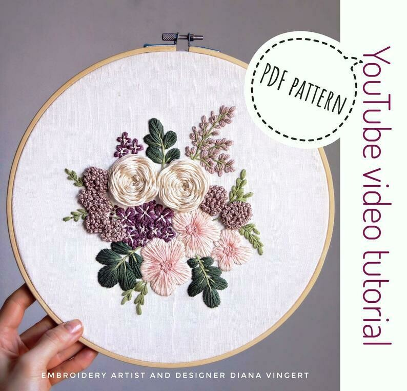 Pdf pattern+ video tutorial. Purple rain
