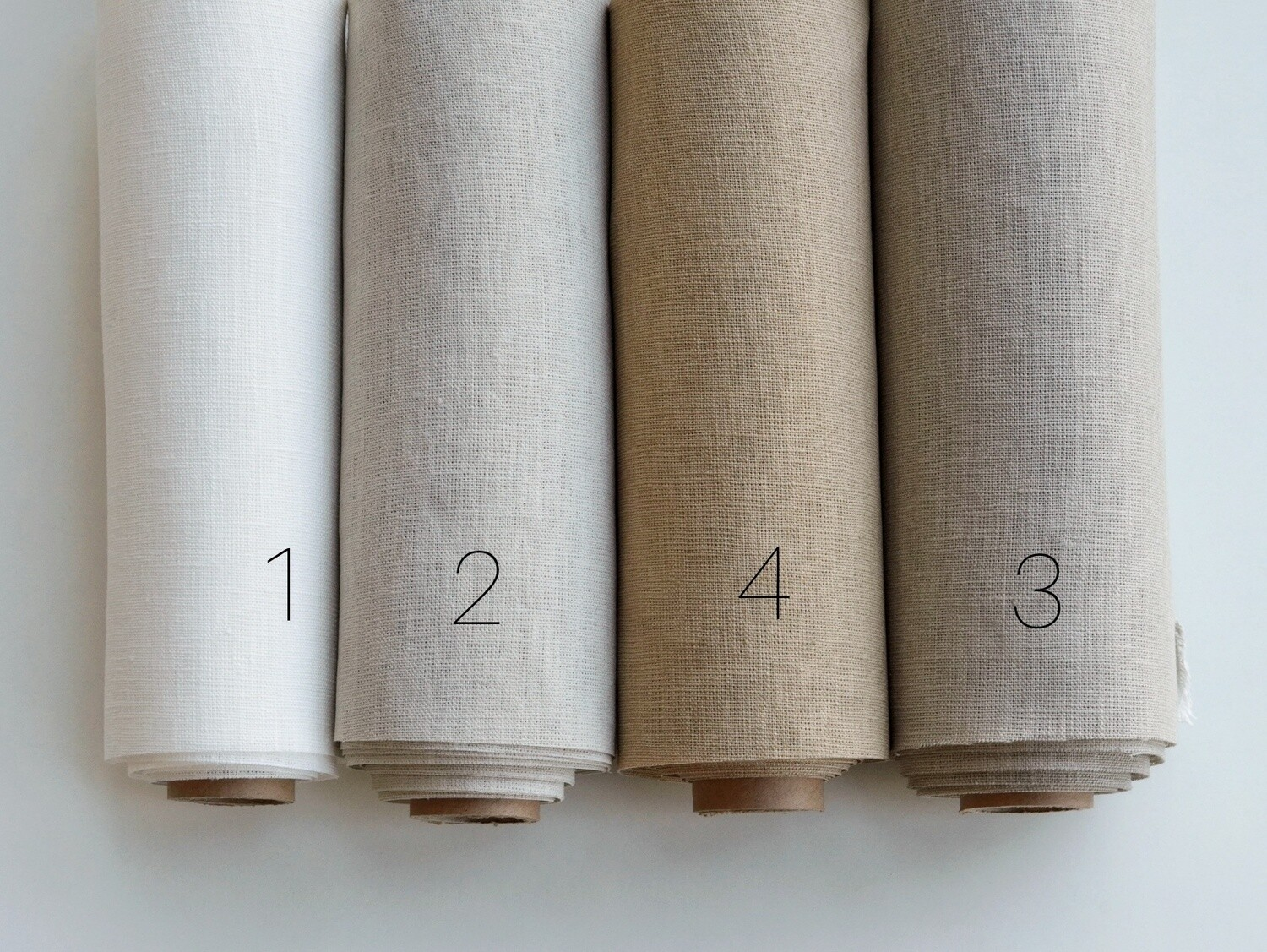 Hand-dyed linen fabric (color 1-4)
