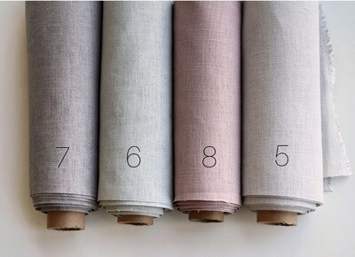 Hand-dyed linen fabric (color 5-8)