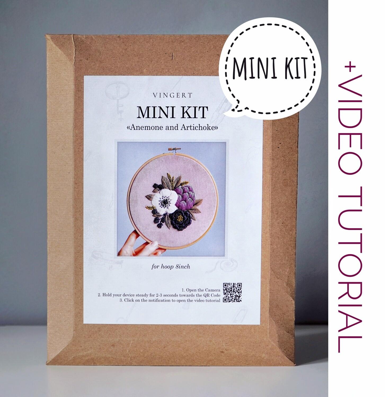 """Mini kit """"Anemone and artichoke"""""""