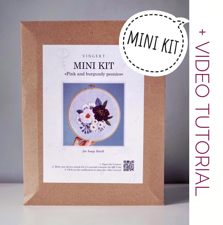 "Mini kit ""Pink and burgundy peonies"""