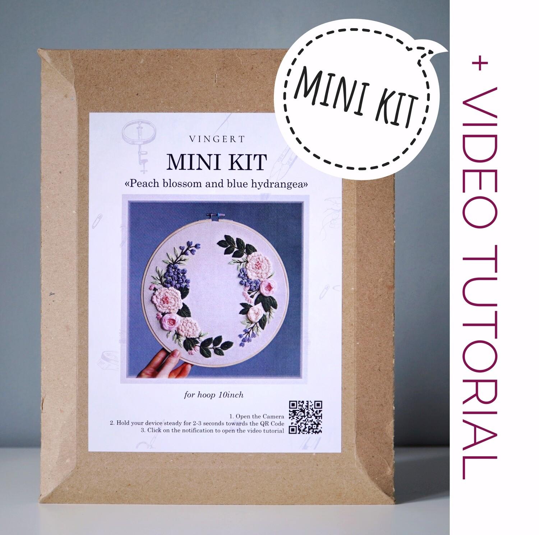"Mini kit ""Peach blossom and blue hydrangea"""