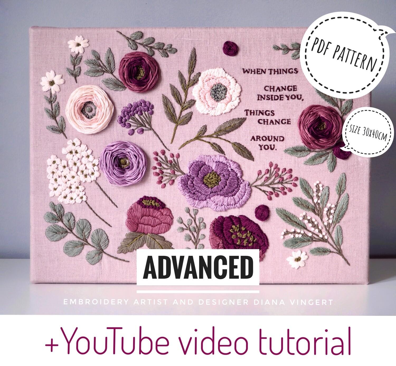 "Pdf pattern+ video tutorial. ""Heather field"""