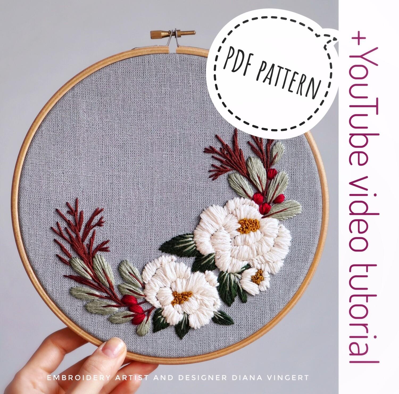 Pdf pattern+ video tutorial. Blooming rosehip