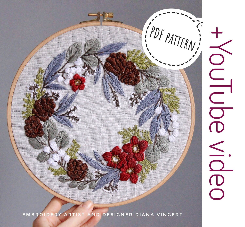 Pdf pattern+ video tutorial. Sweet November wreath