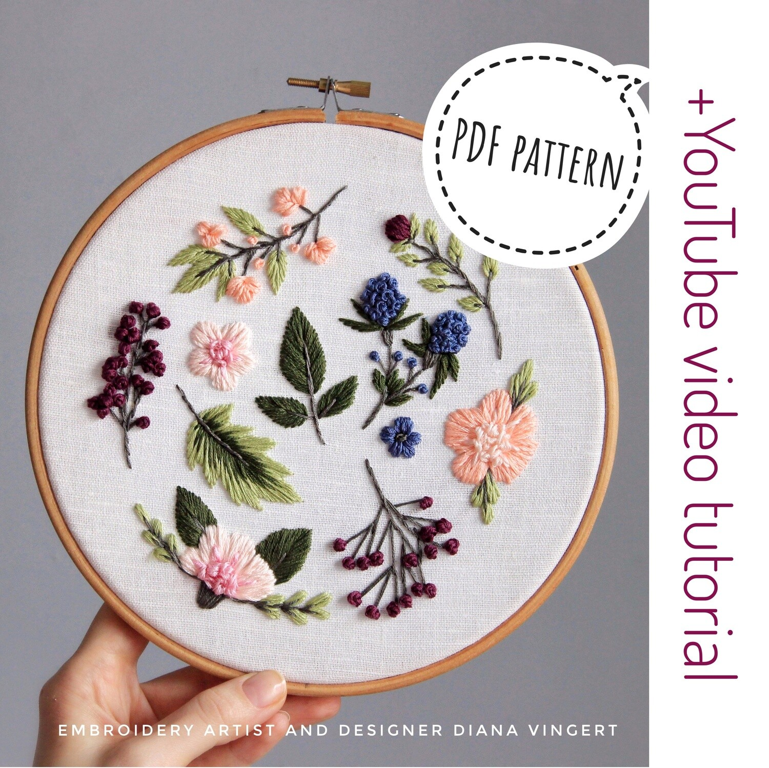 Pdf pattern+ video tutorial. Sweet berries