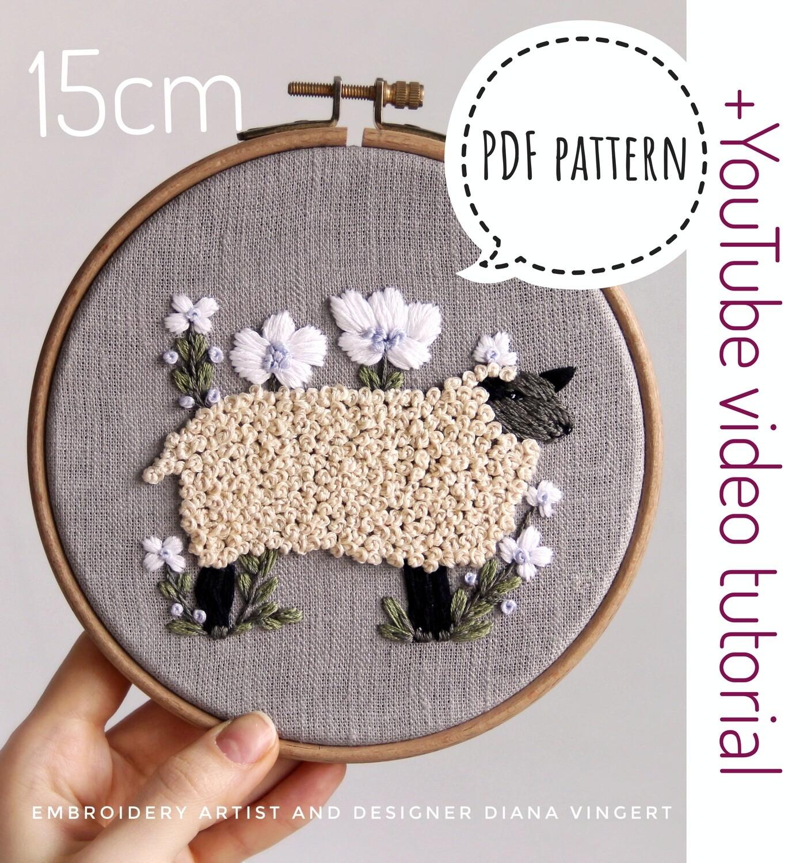 "Pdf pattern+ video tutorial. ""Sheep"""