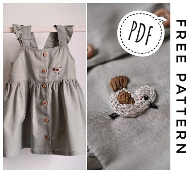 FREE Pdf pattern bird baby dress