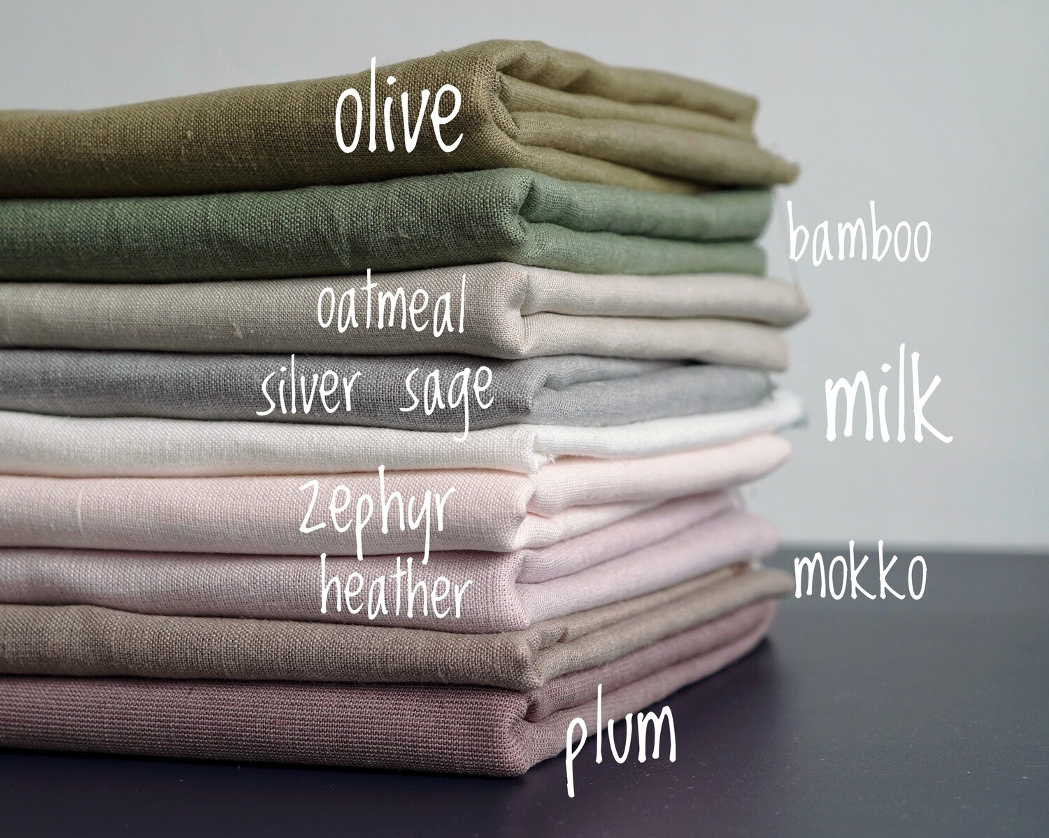 Linen fabric by meter (softened stonewashed)