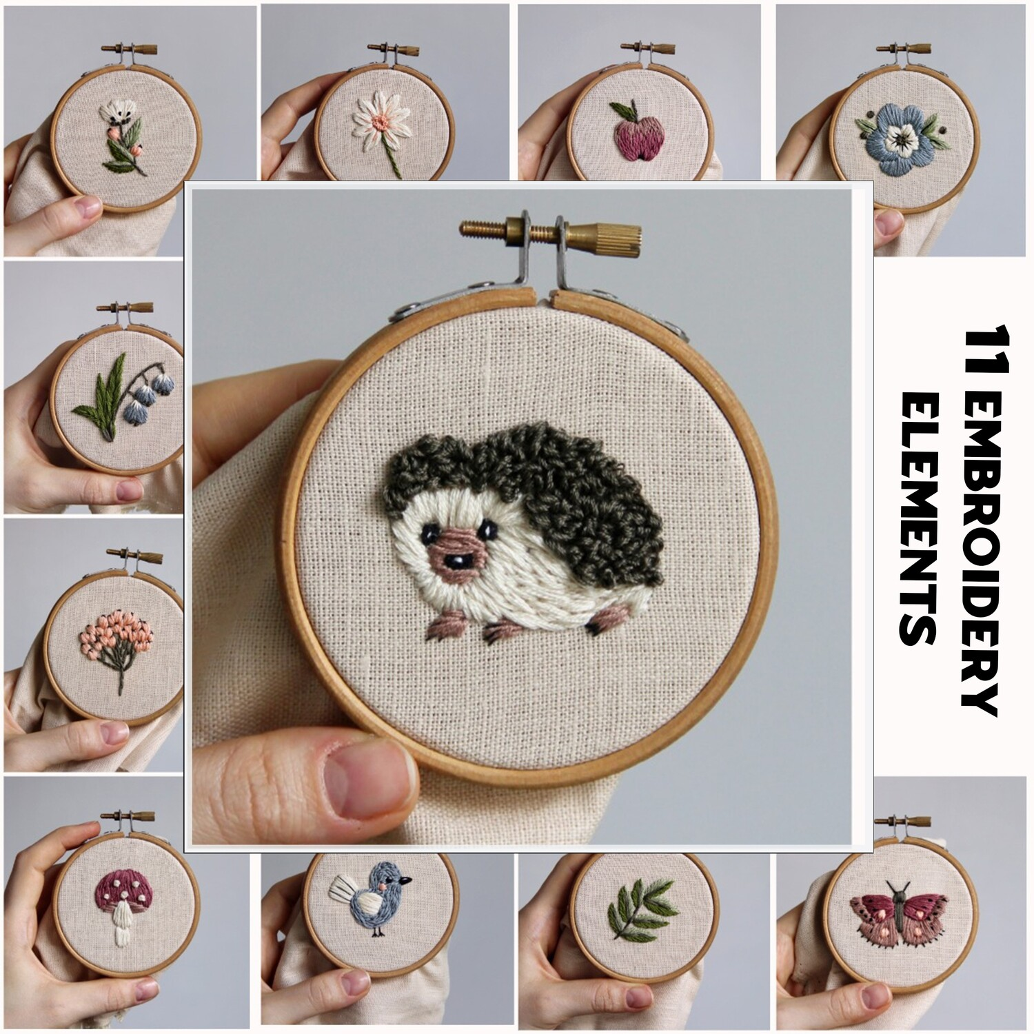 """Pdf pattern+ video tutorial. """"11 elements for embroidery"""""""