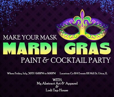 Make your Mask Mardi Gras Paint & Cocktail Party