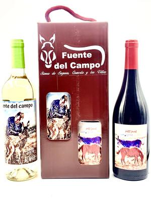 Estuche 1 Fuente del Campo Petit Verdot + 1 Fuente del Campo Jaén Blanca
