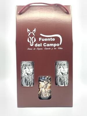 Estuche 2 Botellas Fuente del Campo Ecológico + 1 botella FC Jaén Blanca