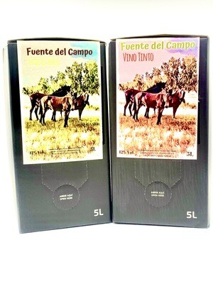 PACK Fuente del Campo BAG IN BOX 5 LITROS Blanco Airén + Tempranillo
