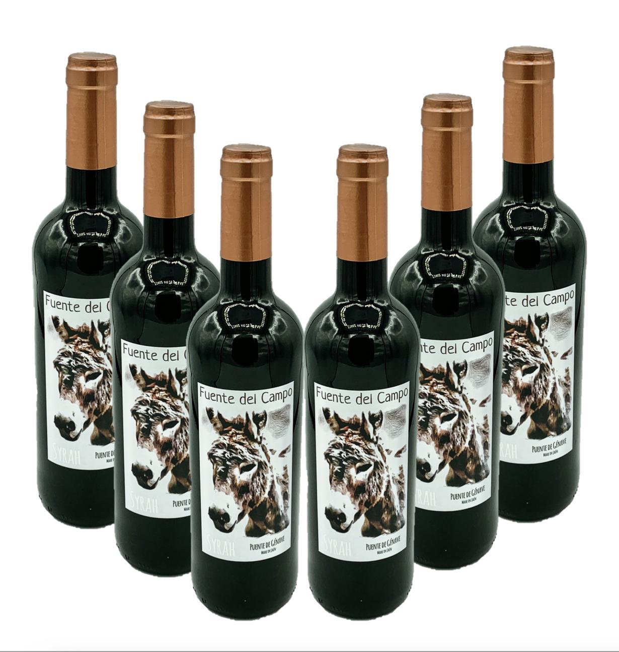 6 Botellas Vino de Jaén - Fuente del Campo Syrah