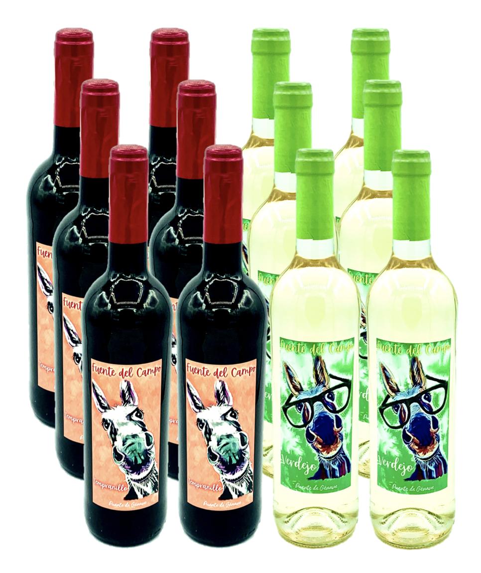 Pack 12 Botellas Fuente de Campo. Tempranillo - Verdejo