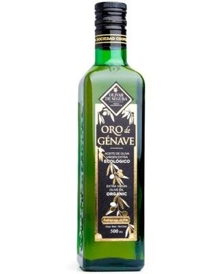 Aceite de Oliva Virgen Extra Ecológico Oro de Génave 500ml