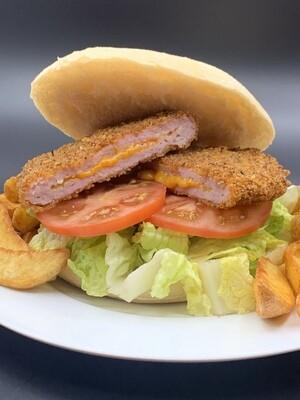 Hamburguesa Maxi Premium Pollo Kentucky Rellena de Cheddar