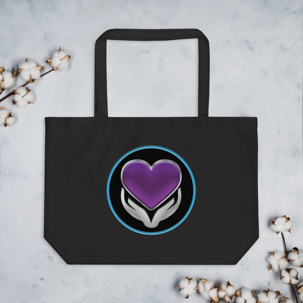 Bringing Intimacy Back Front +Back Large Organic Tote Bag