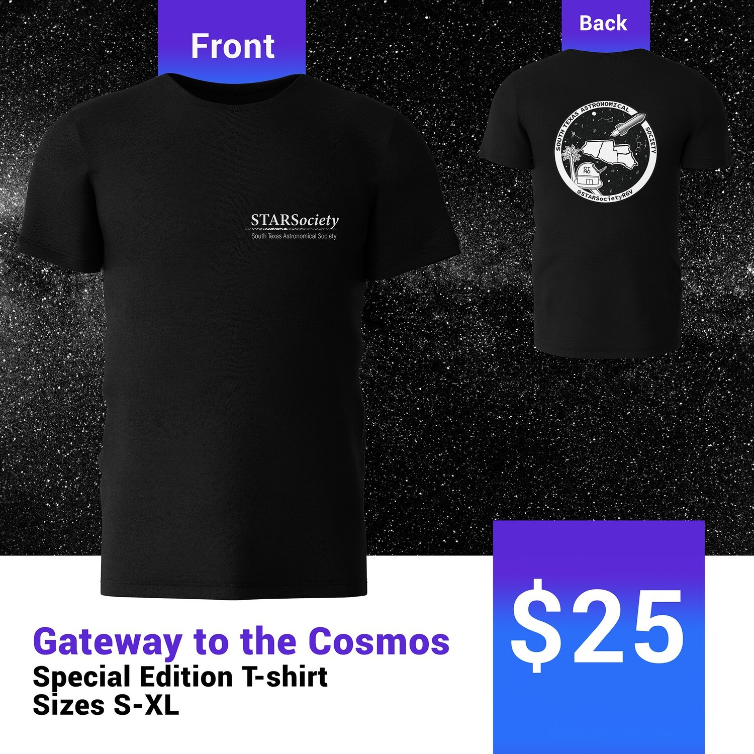 Gateway to the Cosmos Special Edition T-Shirt Size Small